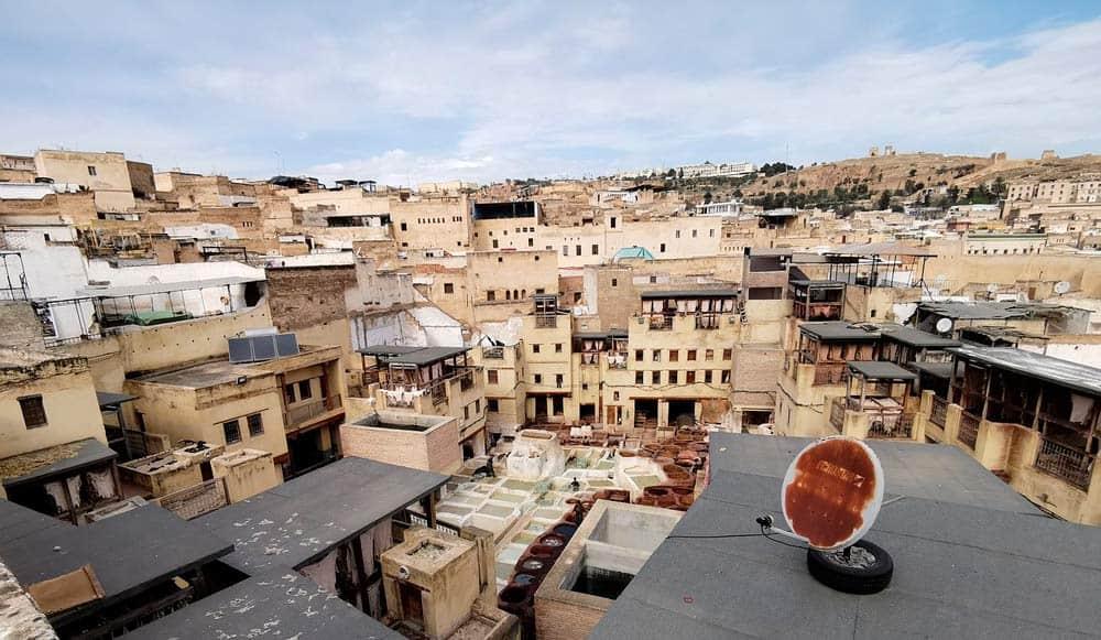 curtiduría de pieles en Marruecos