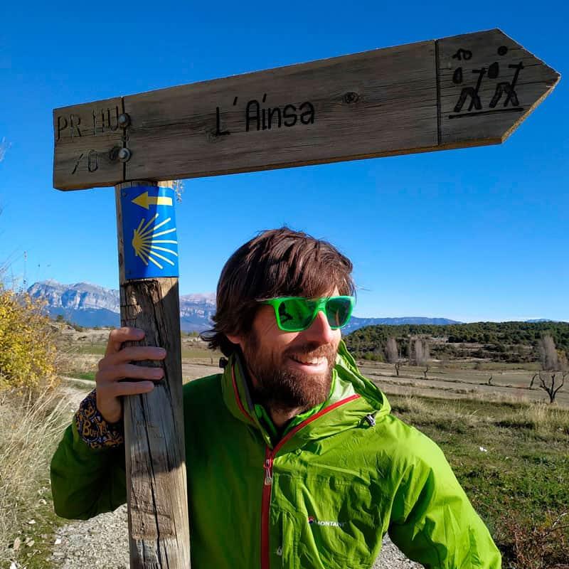 Sergio Fernández en el Camino de Santiago