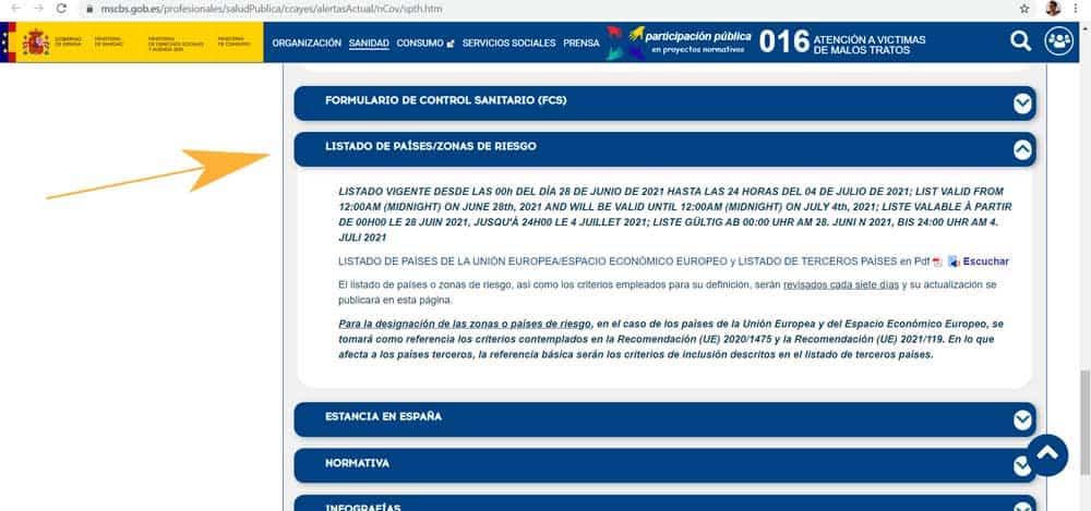 requisitos volver a España covid-19
