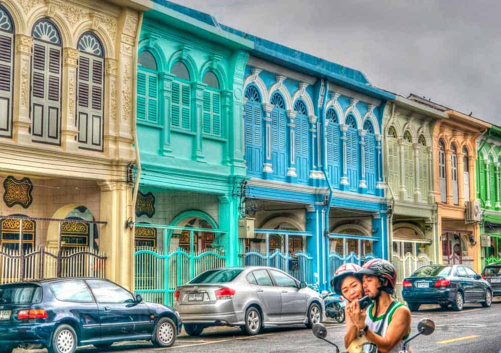 casas de colores en Old Phuket Town