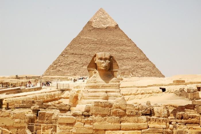 esfinge e piramide de queops