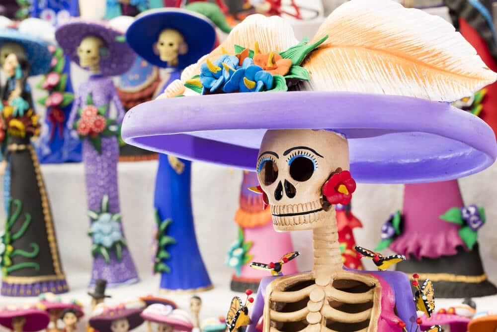 típica catrina mexicana
