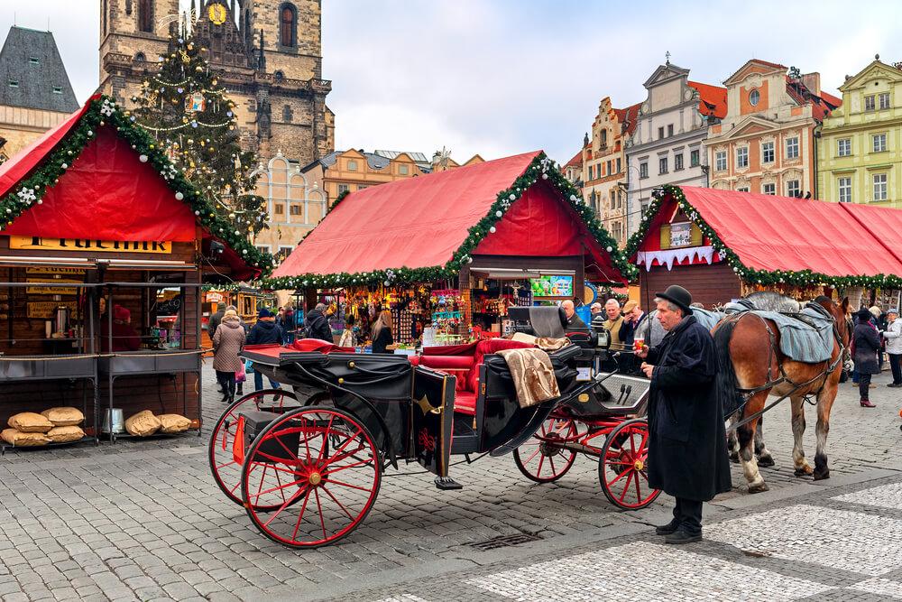 mercados natalicios em praga