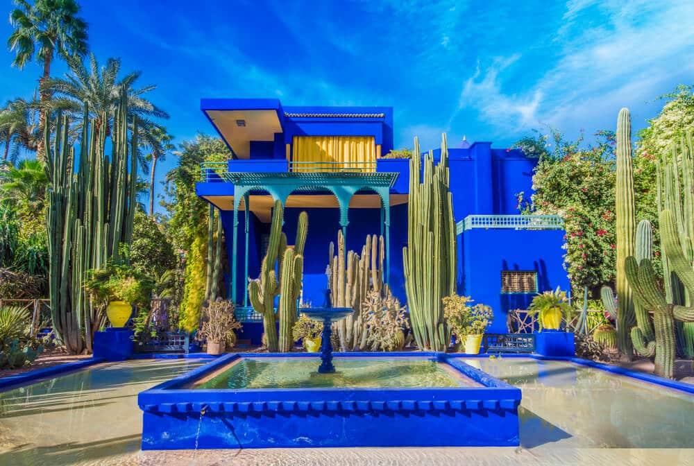 edificio azul nos jardins majorelle