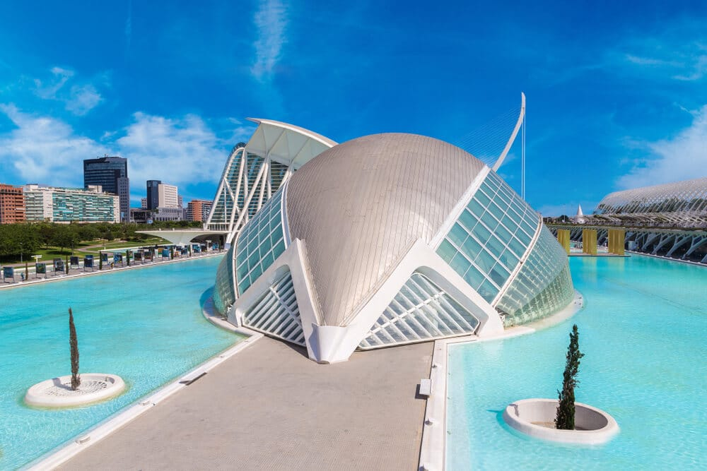 edificio do museu das ciencias em valencia