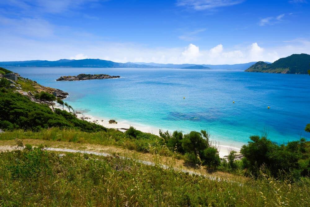 panoramica praia ilhas cies