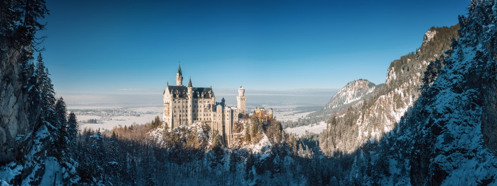 vista panoramica do castelo de neuschwanstein