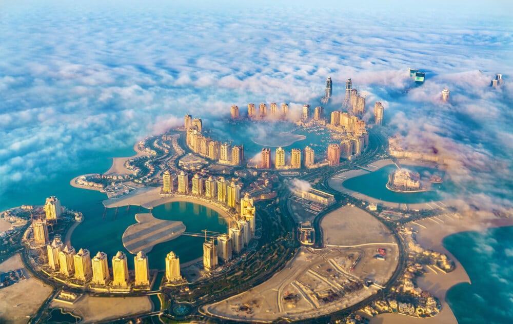 foto aerea de doha