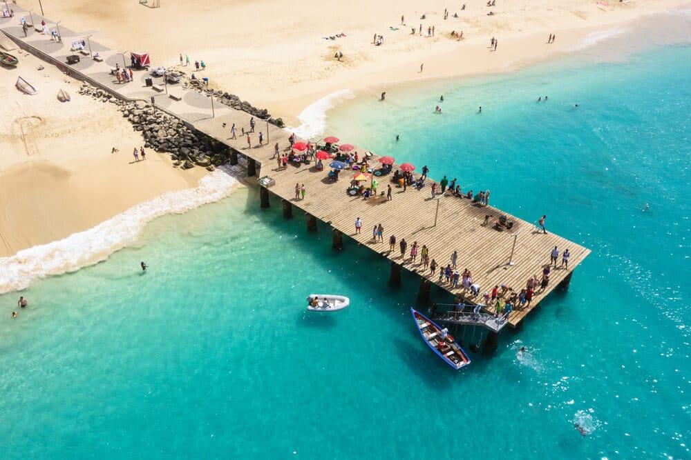 vista aerea da praia de santa maria