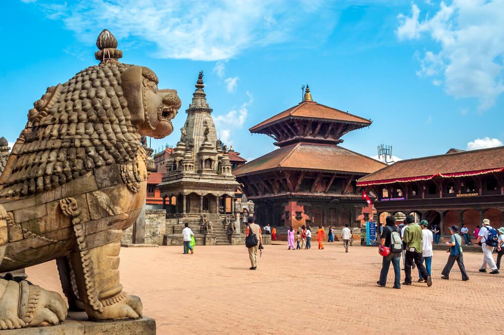 praça de durbar bhaktapur em catmandu