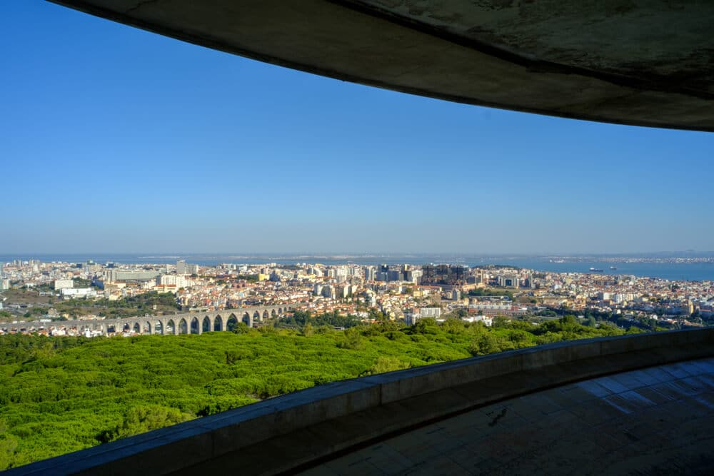 lisboa vista desde o panoramico de monsanto