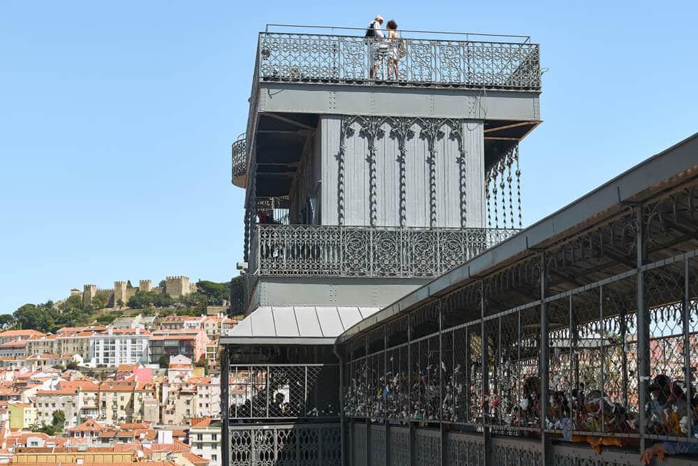 elevador de santa justa e miradouro no topo