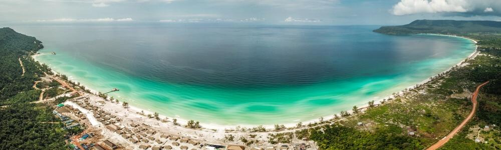 panoramica completa da praia de koh rong