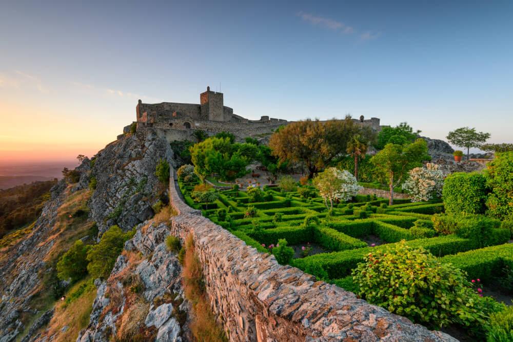 castelo de marvao ao por do sol