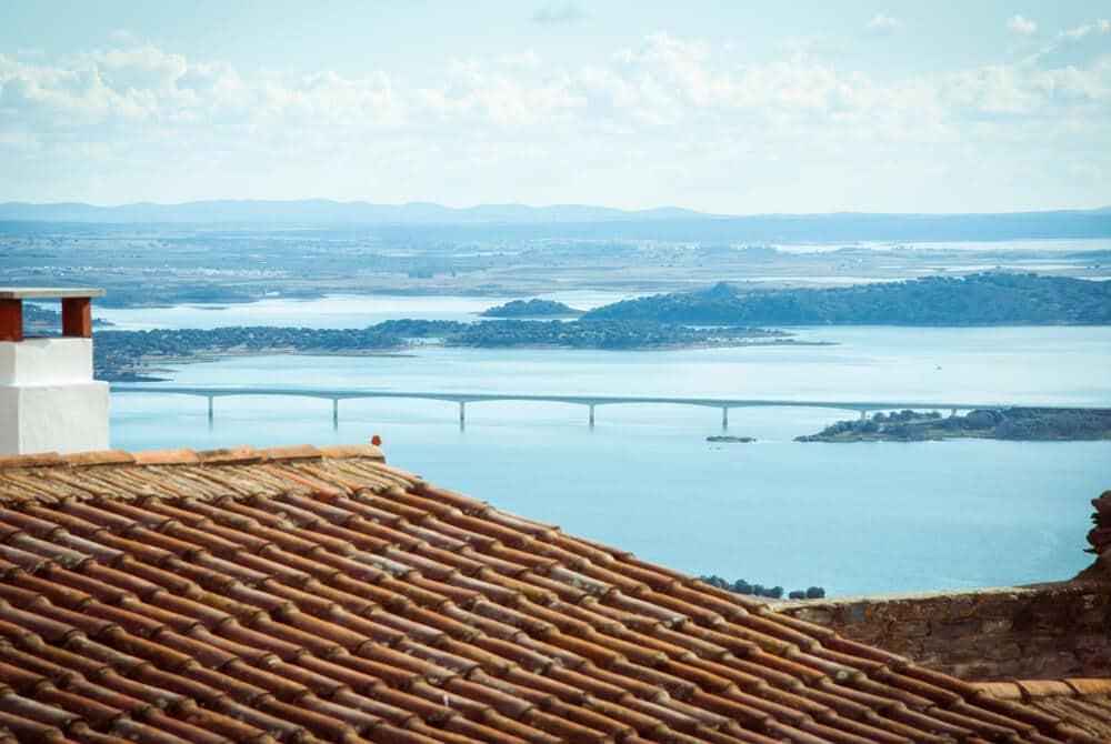 barragem do alqueva vista desde monsaraz