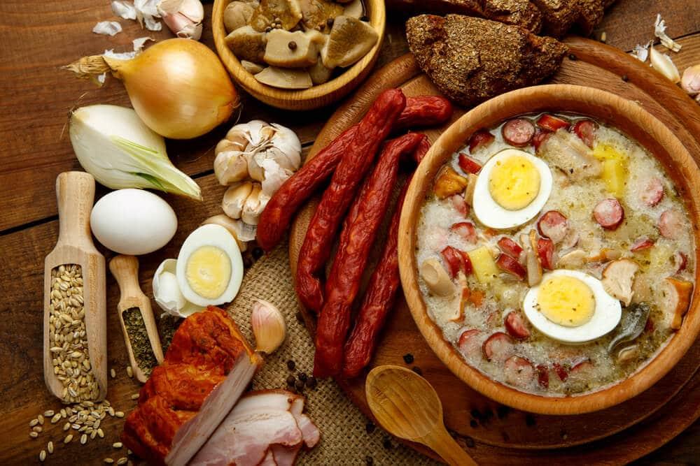 prato de zurek, sopa tradicional polaca