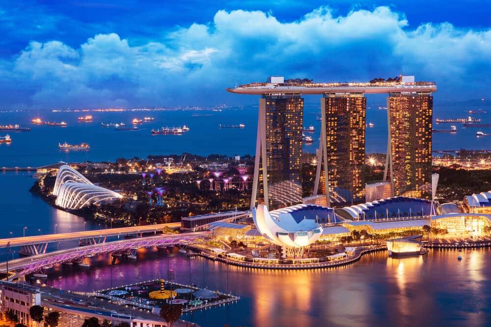 panoramica aérea de singapura