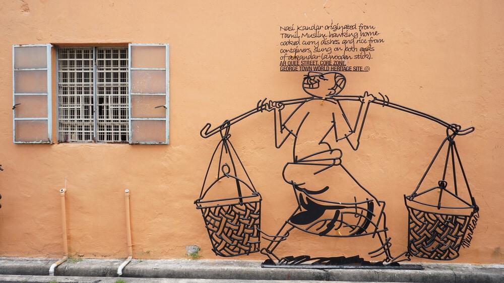 arte urbana em penang