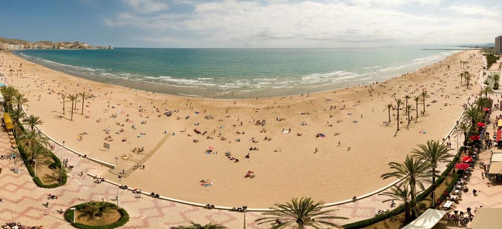 vista panoramica de uma das praias de valencia
