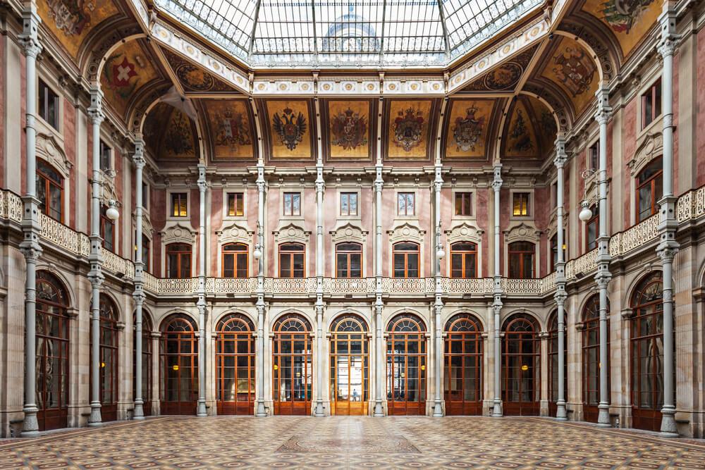 interior do palacio da bolsa