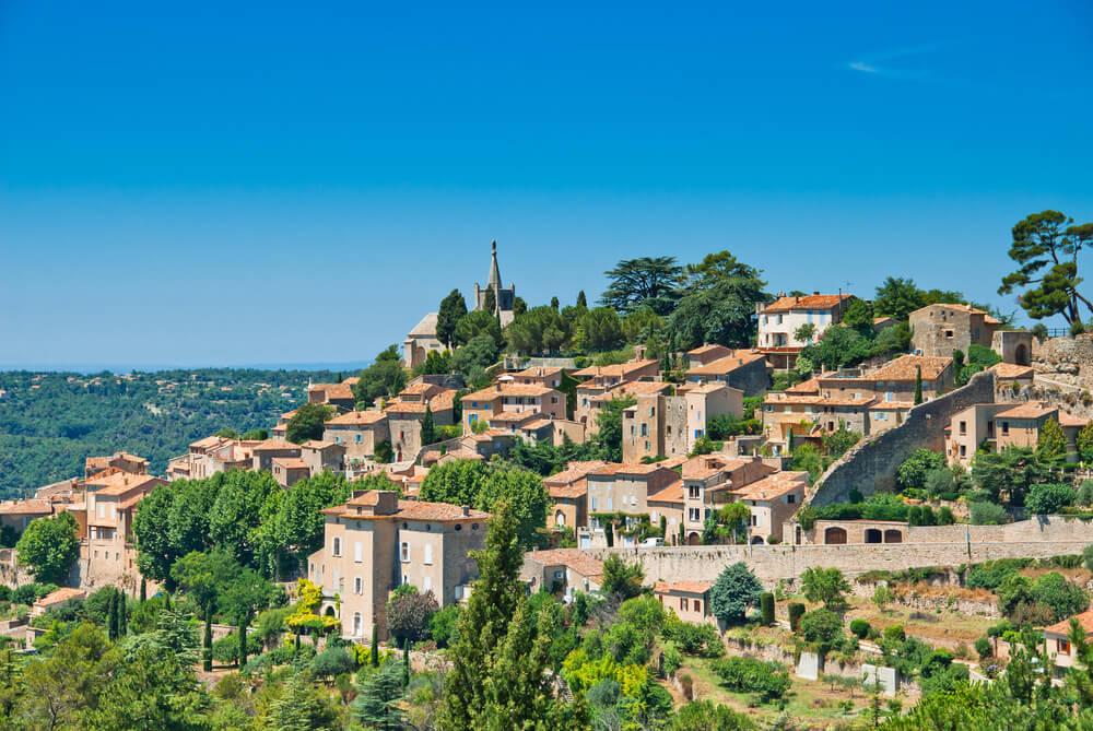vista panoramica da vila de bonnieux