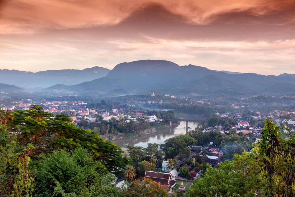 vista panoramica de luang prabang