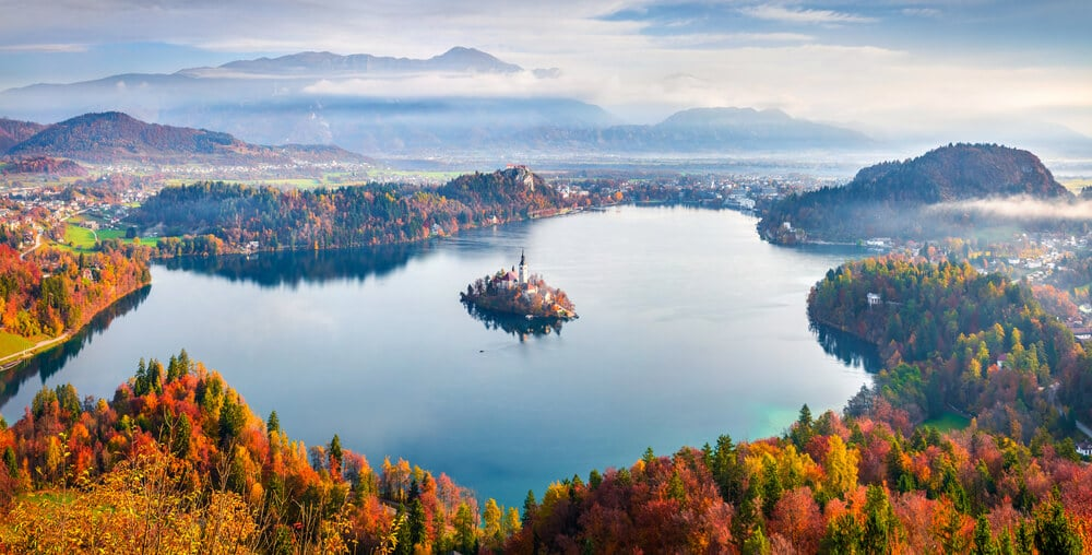 panoramica do lago bled