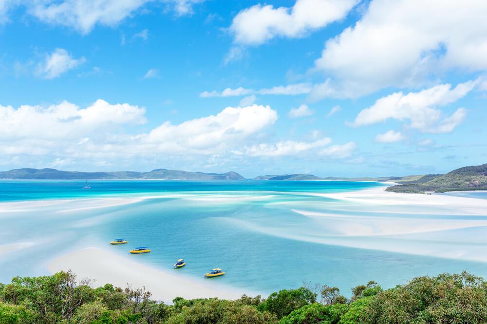 panoramica da praia de whiteheaven na australia