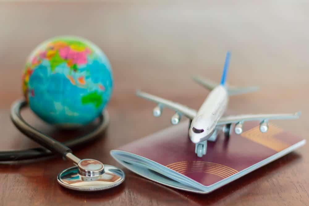 globo, passaporte e aviao