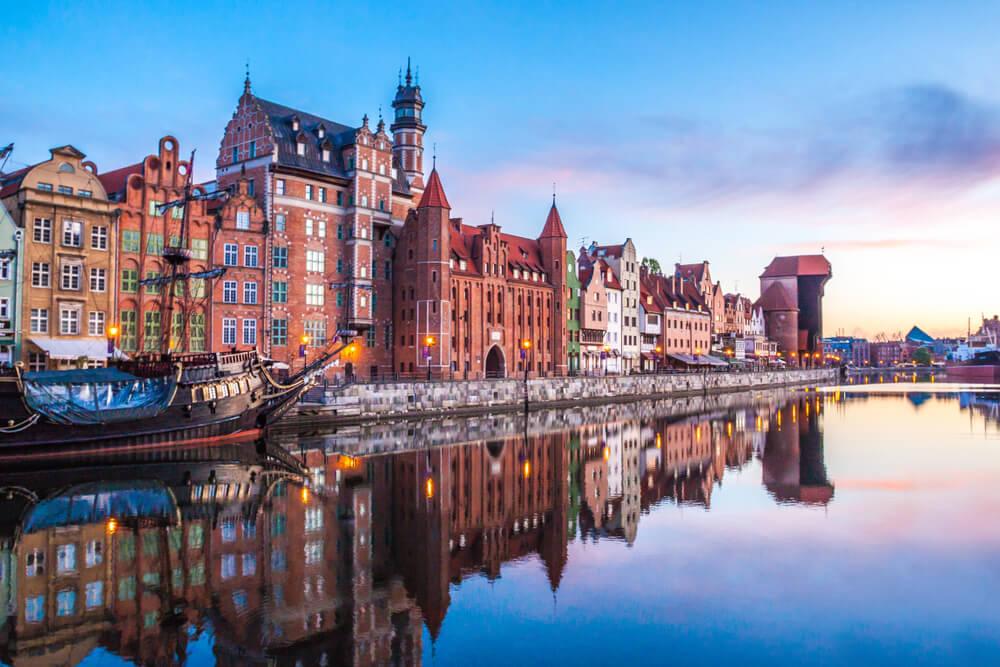 centro da cidade de gdansk