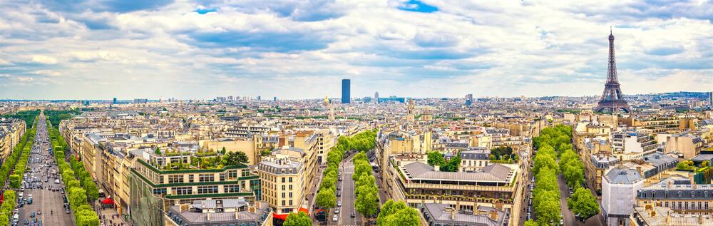 vistas de paris desde o arco do triunfo