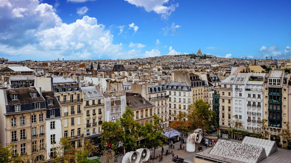 vistas de paris desde o centre pompidou