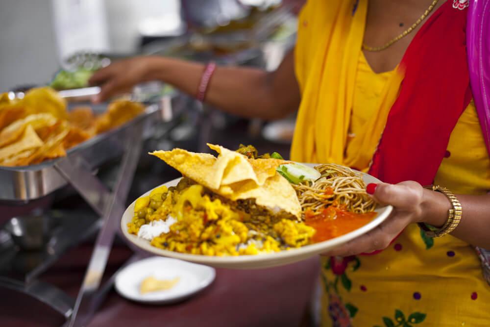 prato tipico nepales dal bhat