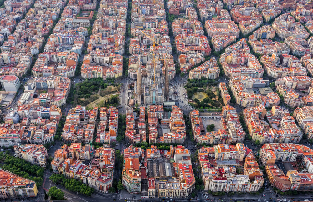 vista de barcelona desde o ceu