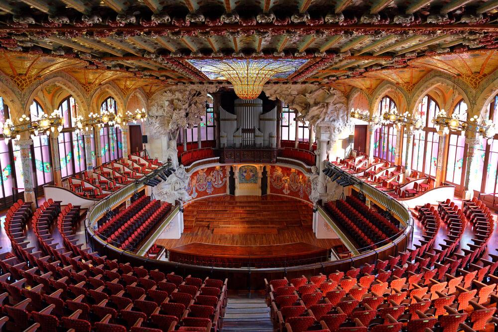 interior do palacio da musica catala
