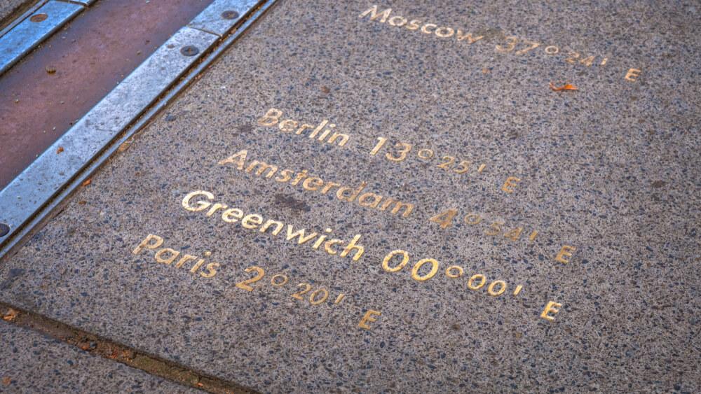 placa do meridiano de greenwich