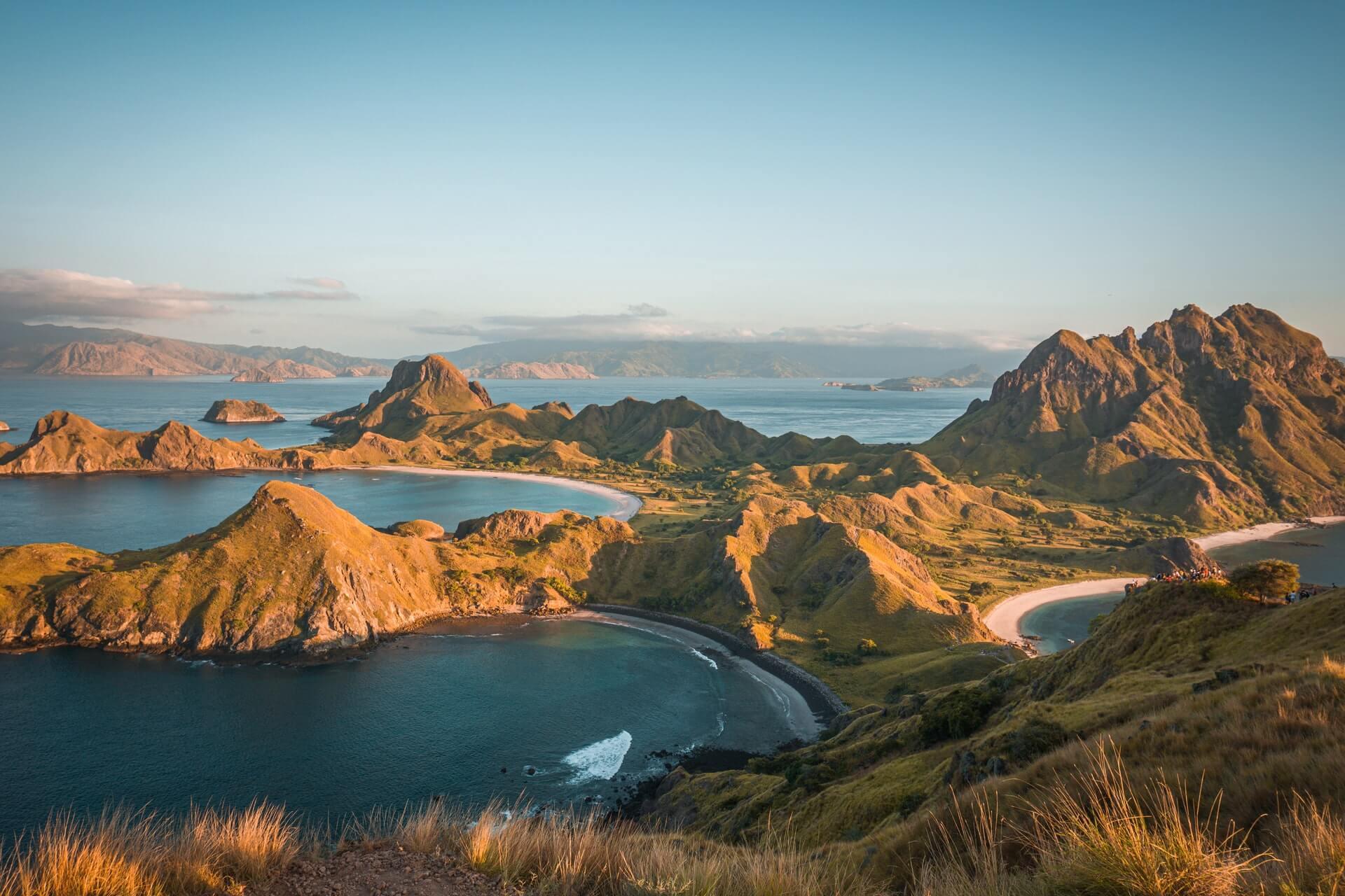 ilha padar a vista de passaro