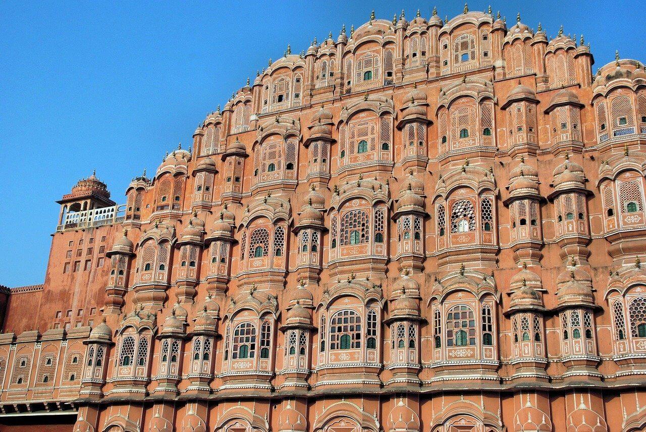 fachada do hawa mahal em jaipur