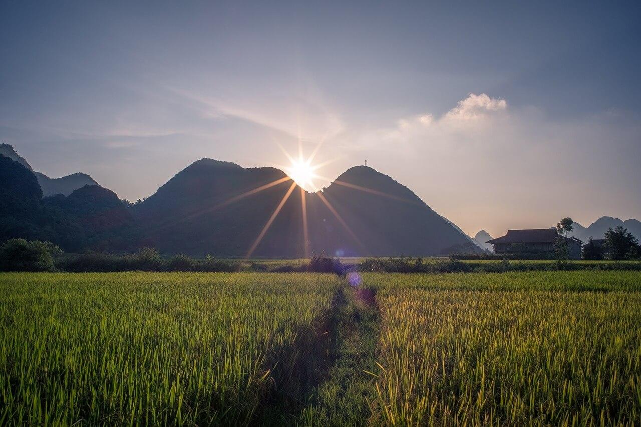 montanhas de sa pa no vietname