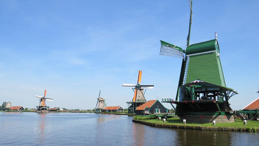 Zaanse Schans moinhos Holanda