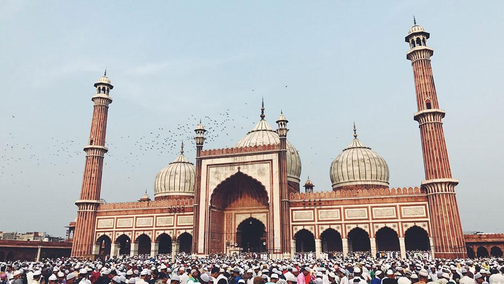 Jama Masjid maior mesquita da Índia