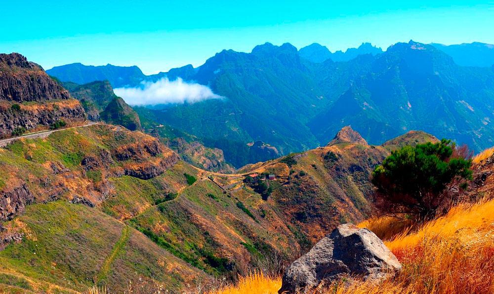 Madeira ilha vulcânica paisagem