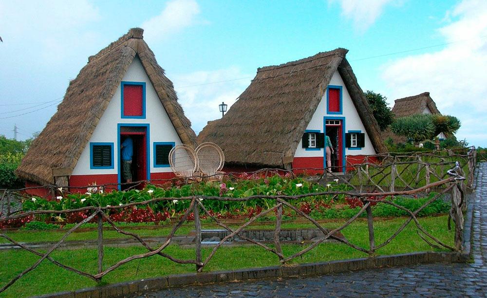 Casas típicas de Santana Madeira