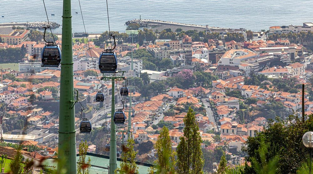 Vista Teleférico do Funchal