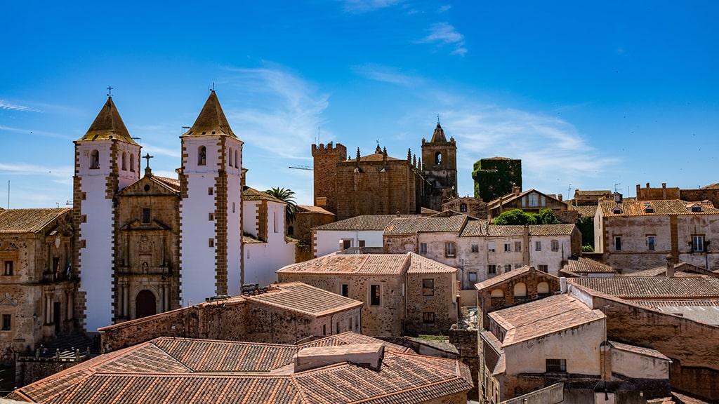 Cáceres cidade histórica Espanha