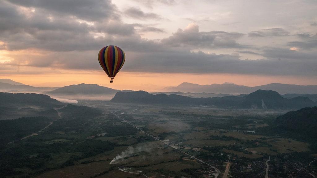 Ásia Balão de ar quente Vang Vieng