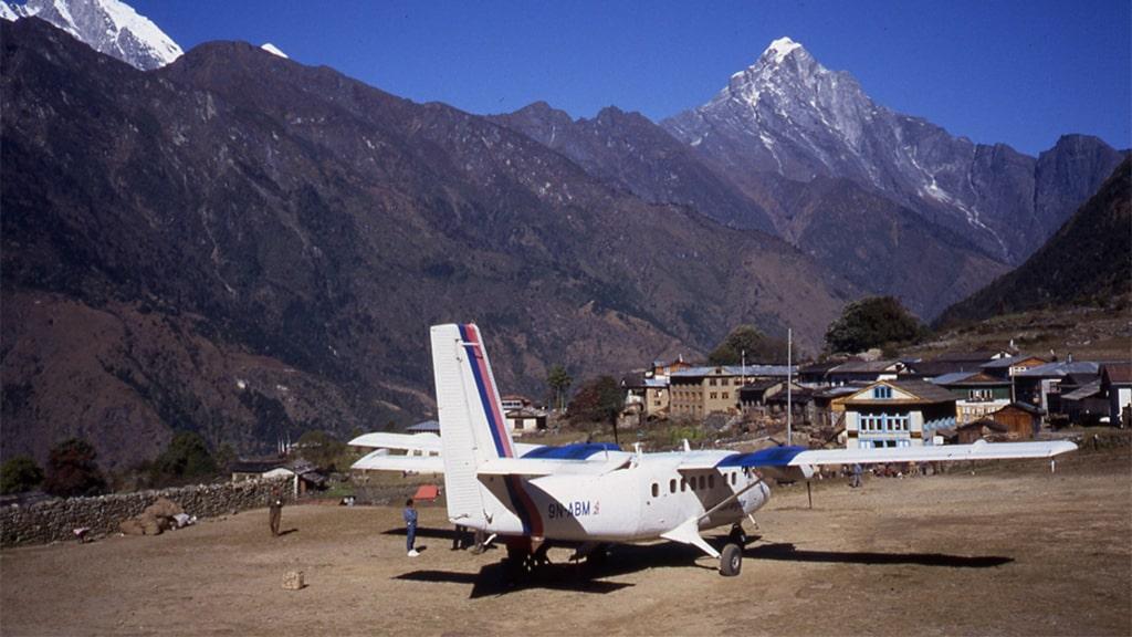 Aeroporto terra batida Nepal