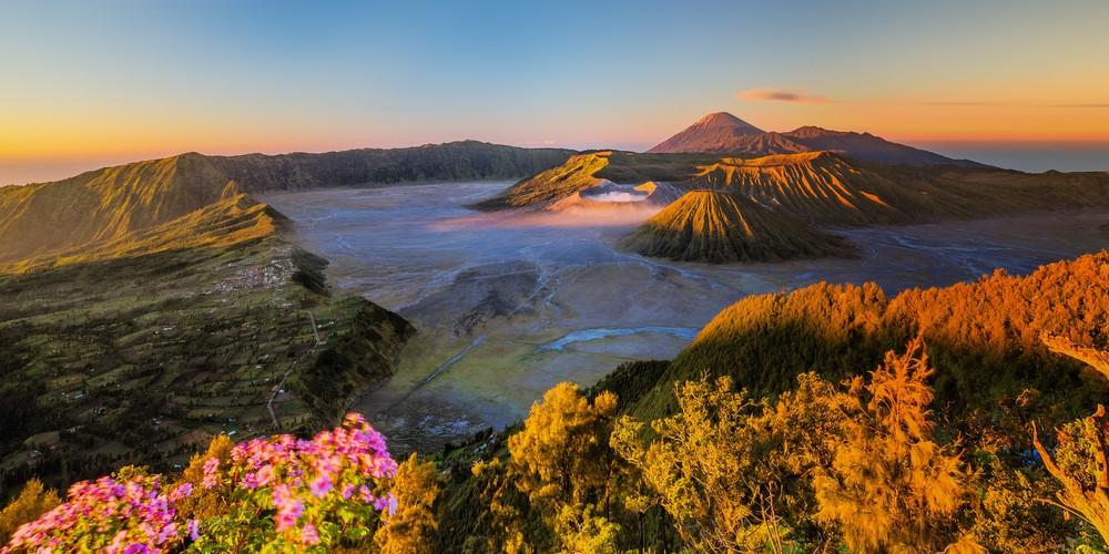 Paisagem paradisíaca na Indonésia