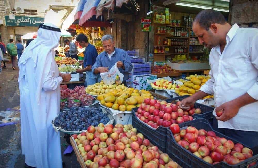 mercado tipico na jordania