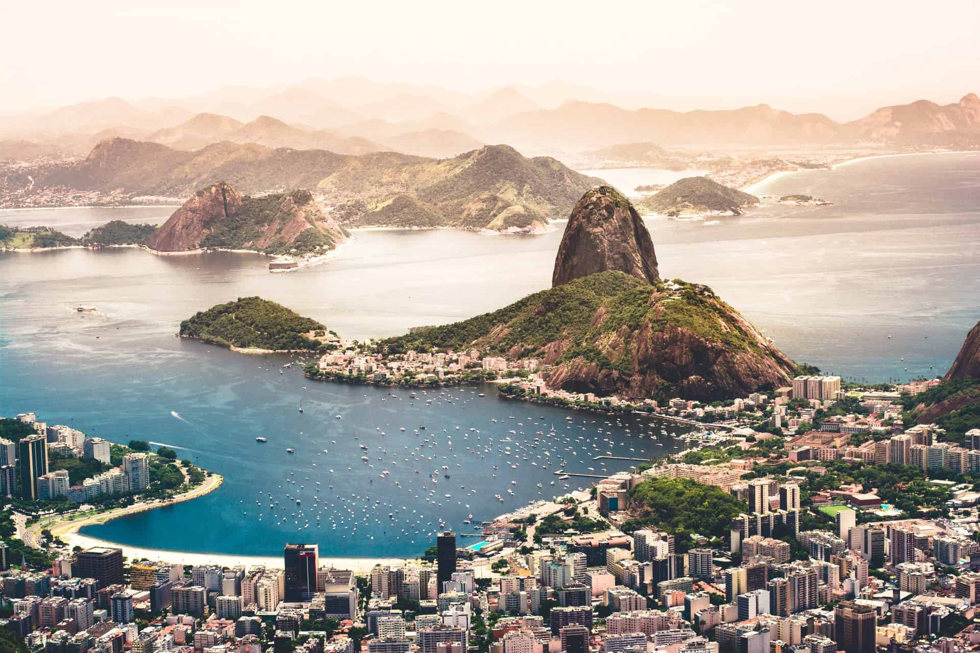 É seguro viajar para o Brasil? Paisagem do Rio de Janeiro